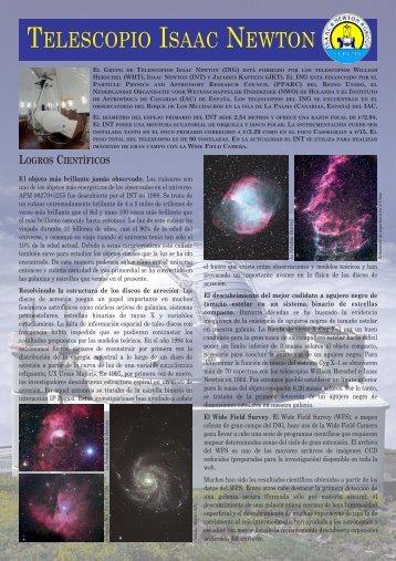 TELESCOPIO ISAAC NEWTON - Instituto de Astrofísica de Canarias