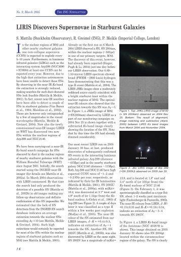 LIRIS Discovers Supernovae in Starburst Galaxies