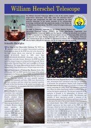 William Herschel Telescope - Isaac Newton Group of Telescopes ...