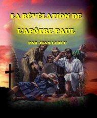 La révélation de l'apôtre Paul