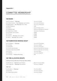 COMMITTEE MEMBERSHIP - Instituto de Astrofísica de Canarias