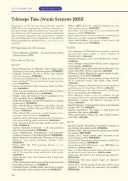 Telescope Time Awards Semester 2005B - Isaac Newton Group of ...