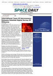 International Team Of Astronomers Releases Detailed Digital Survey