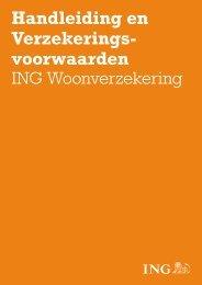 Handleiding en Verzekeringsvoorwaarden ING Woonverzekering