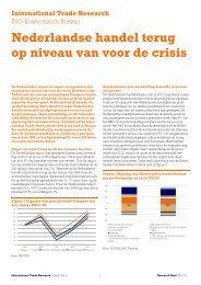 Nederlandse handel terug op niveau van voor de crisis - ING