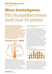 ING BudgetBarometer daalt naar 84 punten
