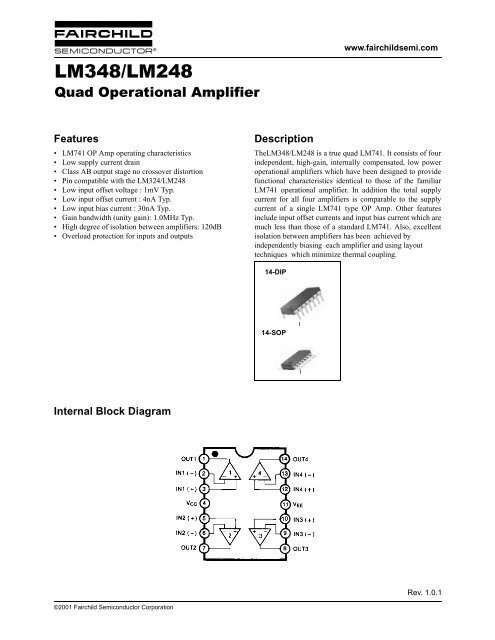 lm348 lm248 quad operational amplifier prof mason