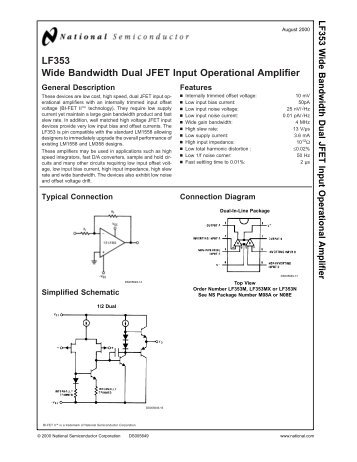 lf353 wide bandwidth dual jfet input operational amplifier?quality\=85 lf353n wiring diagram,n \u2022 indy500 co  at crackthecode.co