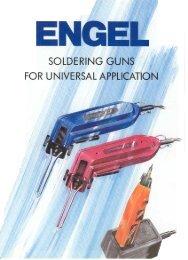 Soldering Gun - HSGM Heißschneide-Geräte und -Maschinen GmbH