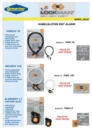kabelsloten met alarm - Connector BV