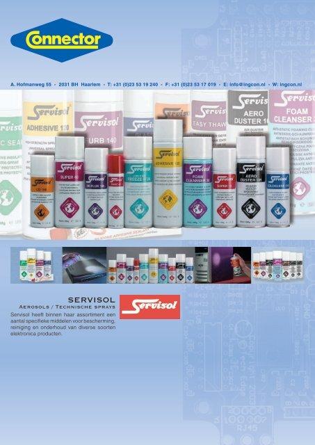 Onderhoud & technische sprays SERVISOL - Groep 54