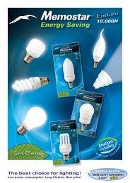 Download hier de Memostar spaarlampen Catalogus - Connector BV