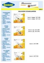 1Memostar Halogeen E-saver spaarlampen cover - Connector BV