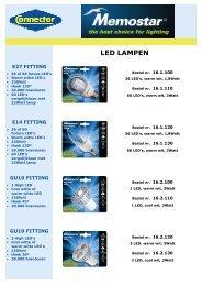 Download hier de Memostar LED Catalogus - Connector BV