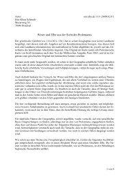 Weser und Elbe aus der Sicht des Ptolemaeus - Schmich, Ingeborg