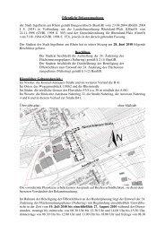 Öffentliche Bekanntmachung der Stadt Ingelheim am Rhein gemäß ...