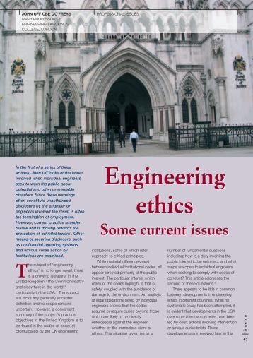 engineering ethics case studies uk Pdf | what are case studies  the use of case studies has a long and  effective history in business, law, and  web page (  ethics.