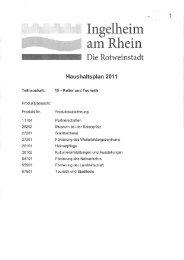 Haushaltsjahr: 2011 - Ingelheim