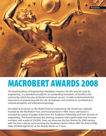 macrobert awards 2008 - Ingenia