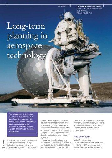 Long term planning in aerospace technology Long-term ... - Ingenia
