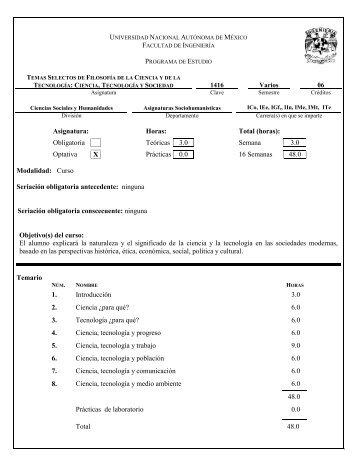 temario completo - Facultad de Ingeniería - UNAM