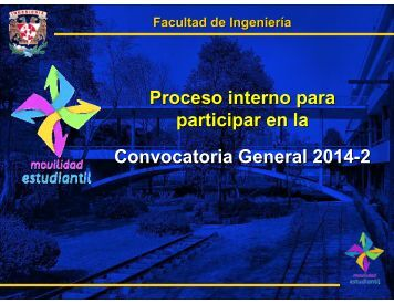 Proceso Interno Convocatoria General 2014-2 - Facultad de ...