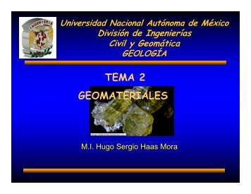 TEMA 2 GEOMATERIALES
