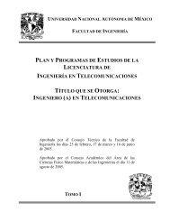 Fundamentación - Facultad de Ingeniería - UNAM