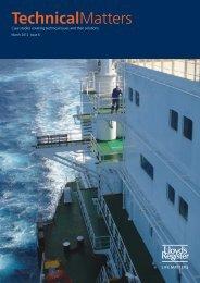Technical Matters Issue 6 (pdf, 3046kb) - Lloyd's Register