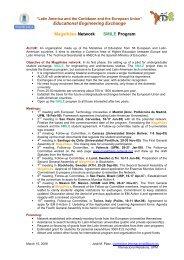 Magalhaes Network preliminary information - UNAM