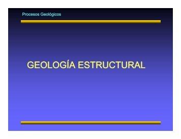 Í GEOLOGÍA ESTRUCTURAL
