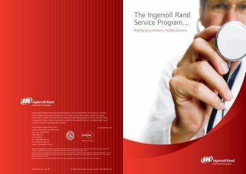 The Ingersoll Rand Service Program...