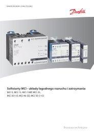 Softstarty MCI - układy łagodnego rozruchu i zatrzymania - Danfoss