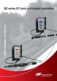 QE series EC tools and Insight controllers - Ingersoll Rand