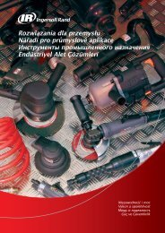 II - Pneumatické nářadí a kompresory Ingersoll-Rand.