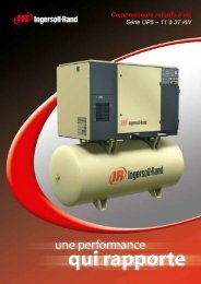 Compresseurs rotatifs à vis Série UP5 – 11 à 37 kW - Ingersoll Rand