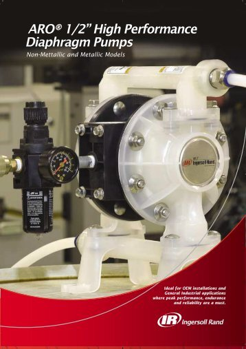 "ARO® 1/2"" High Performance Diaphragm Pumps - Ingersoll Rand"
