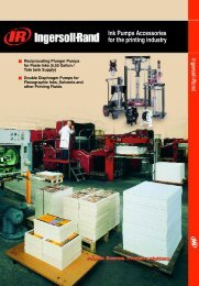 Ink Pumps Accessories for the printing industry - Ingersoll Rand