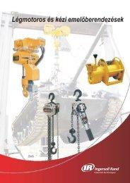Légmotoros és kézi emelőberendezések - Ingersoll Rand