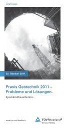 Praxis Geotechnik 2011 - Springer-VDI-Verlag