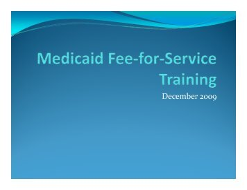 Fee for Service Presentation