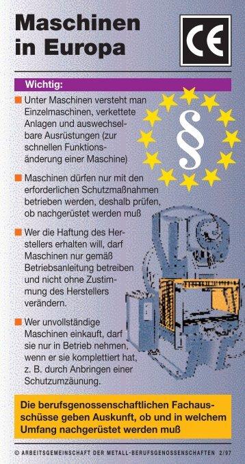 """Merkkarte """"Maschinen in Europa"""""""