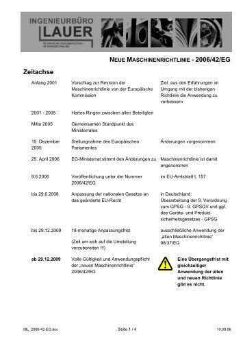 neue maschinenrichtlinie - 2006/42/eg