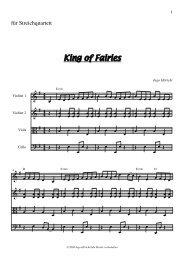 King of Fairies Partitur und Stimmen - ingo höricht