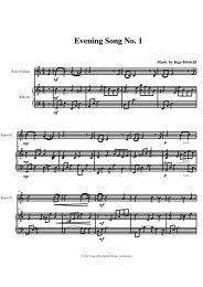 Eveningsong Nr. 1 V P.mus - ingo höricht