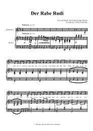 Der Rabe Rudi Chor Partitur - ingo höricht