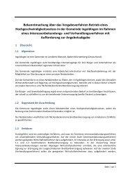 Bekanntmachung über das Vergabeverfahren Betrieb ... - Ingoldingen