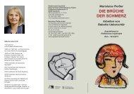 Flyer Die Brüche Der Schmerz - Ingolstadt