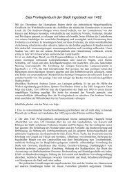 Abhandlung zum Privilegienbuch zum Download - Ingolstadt