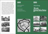 Flyer Zeitgeschichte - Ingolstadt